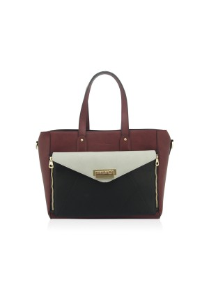 The Etta Shoulder Bag by Anna Smith in Wine