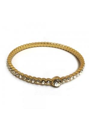 Gold Diamante Bracelet with Large Diamond