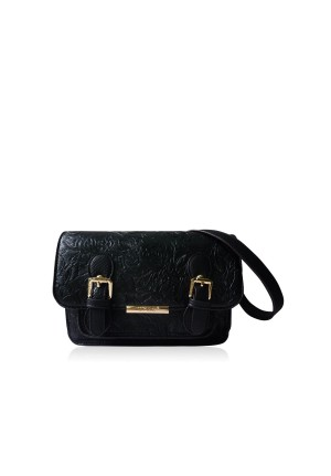 Etched Floral Satchel Bag by LYDC