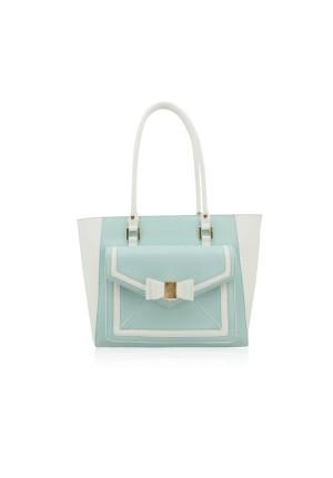 The Envelop Shoulder Bag by LYDC in Light Blue