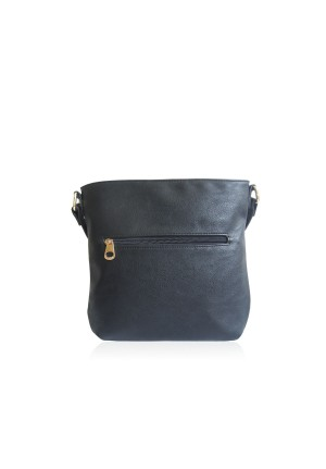 The Owl Face Bag by Anna Smith in Black & Cream